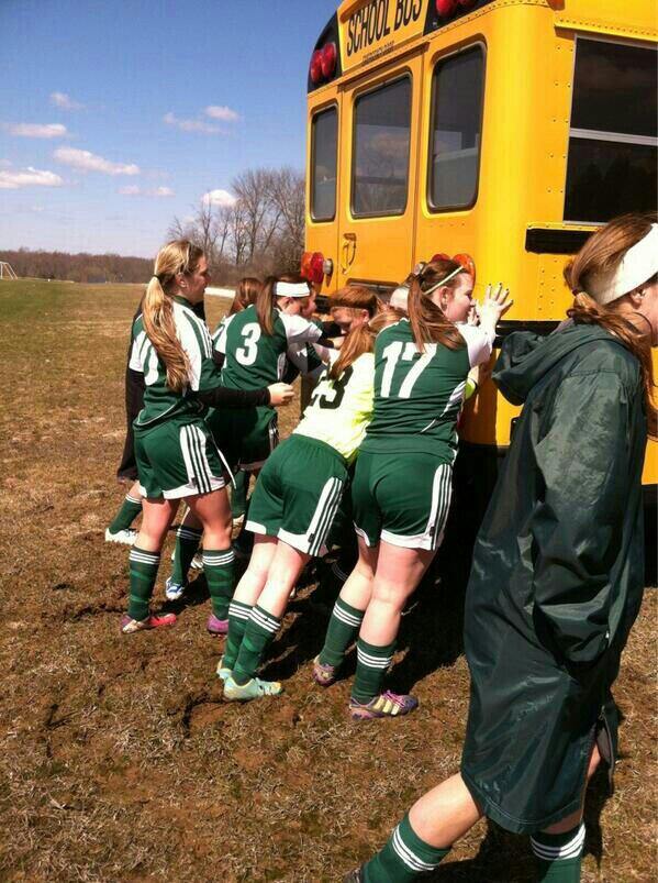 lolol who remembers when our bus got stuck and we made JV push