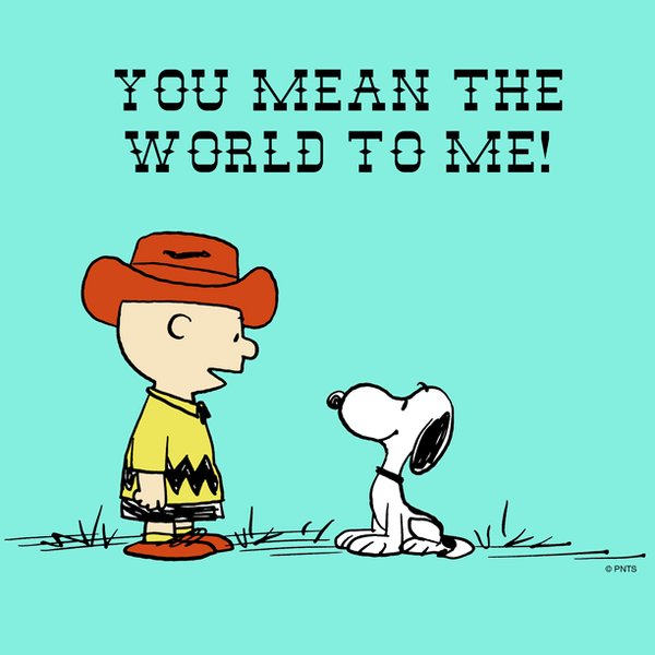 "PEANUTS On Twitter: ""You Mean The World To Me. Http://t.co"