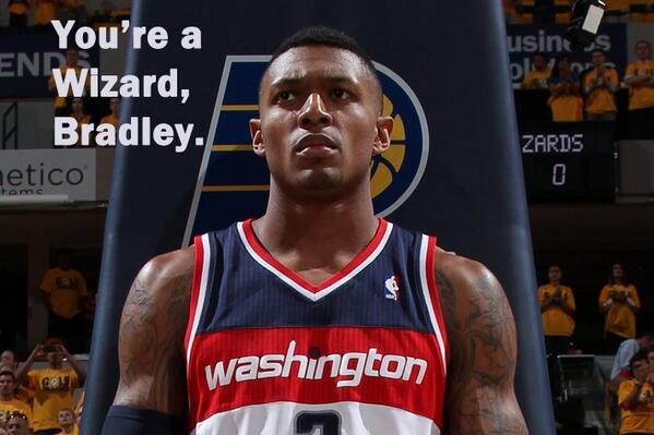 Bradley Beal's Harry Potter moment.  @BulletsForever @Truth_About_It #dcRising http://t.co/cMKRvYQzFQ