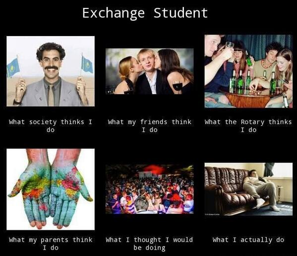 「what exchange student actually does」の画像検索結果