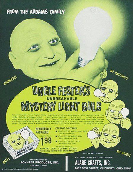 Uncle Fester's Unbreakable Mystery Light Bulb. #TBT #vintagetoys http://t.co/LJfgbVPuyN