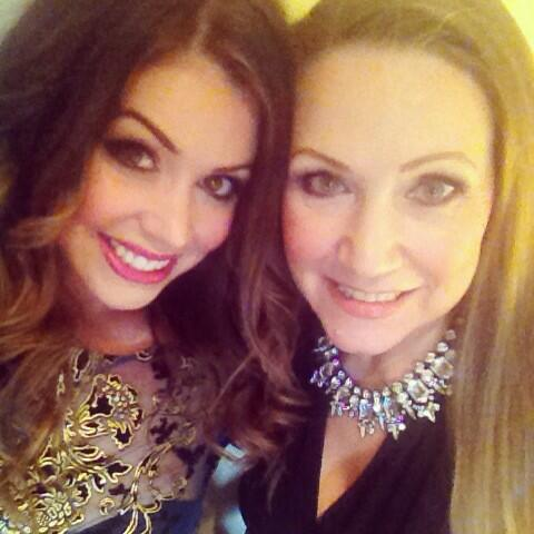 Ready to rock @MissMcrOfficial with my gorgeous Miss World mum @EntertainToday looks great #sponsor #kirstieCollins http://t.co/4P2MgH7PNe
