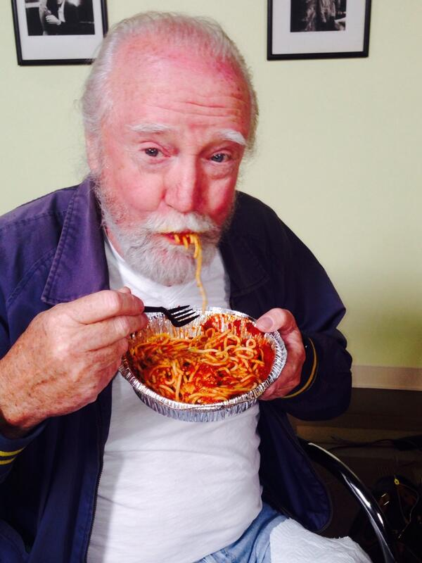 It's now Spaghetti Thursday's! #Hershel http://t.co/OiTuPweJif