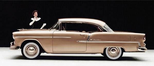 The 1955 Chevrolet Bel Air Sport Coupe. #TBT #ThrowbackThursday http://t.co/AOrMrRkqlA