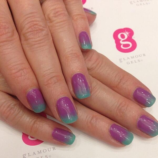 Glamourgels Get Colorful Ombre Nails From Glamour Gels Hundreds Of