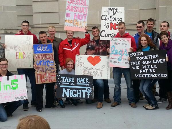 @NSVRC Iowa State University Take Back the Night, before the rally, I really loved these signs http://t.co/CeBkQOlK1q
