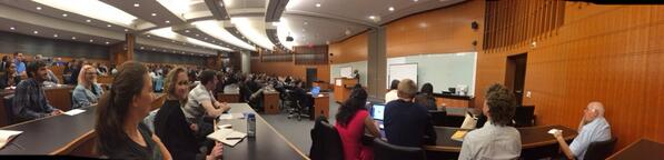 Pano of crowd at @tejucole lecture. Packed, and that's f-ing good. #thinkclearly http://t.co/kveq9BlFIR