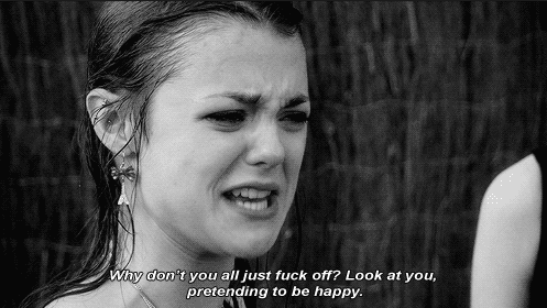 Skins Quotes On Twitter Look At You Pretending To Be Happy