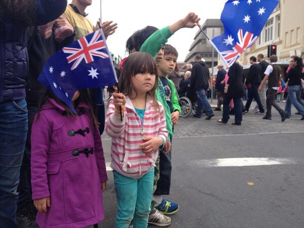 #abcanzac #launceston Anzac march http://t.co/1y3MNXeS84