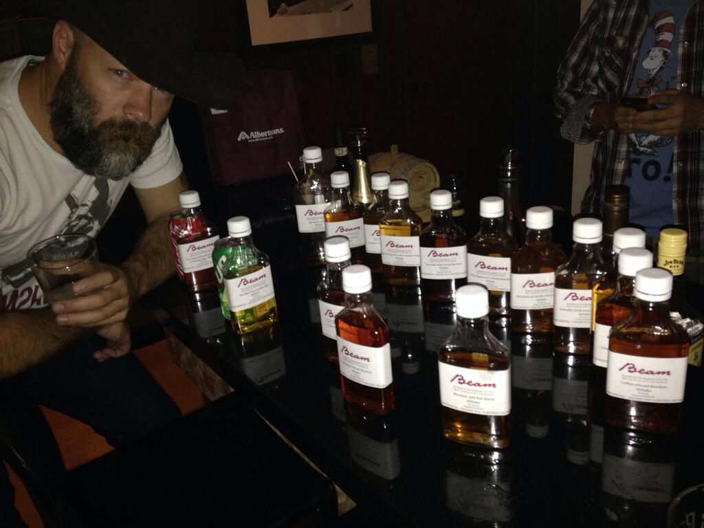 Late night Jim Beam tasting #stagecoach http://t.co/SSZ0ASKdPb