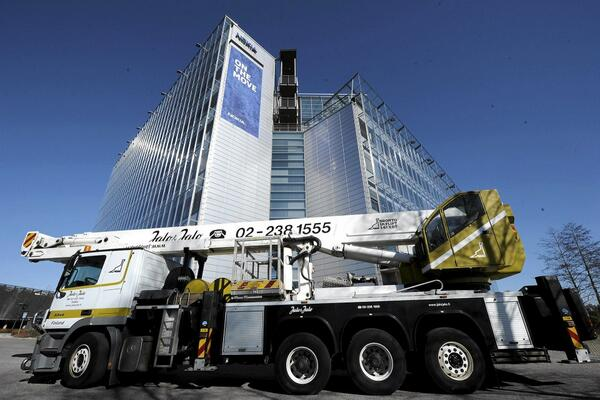 Sad day. Good times. #N900 #N9 RT: @mikko: Crane removing the Nokia sign from Nokia HQ in Espoo: http://t.co/oFd8W2ke4N #historic
