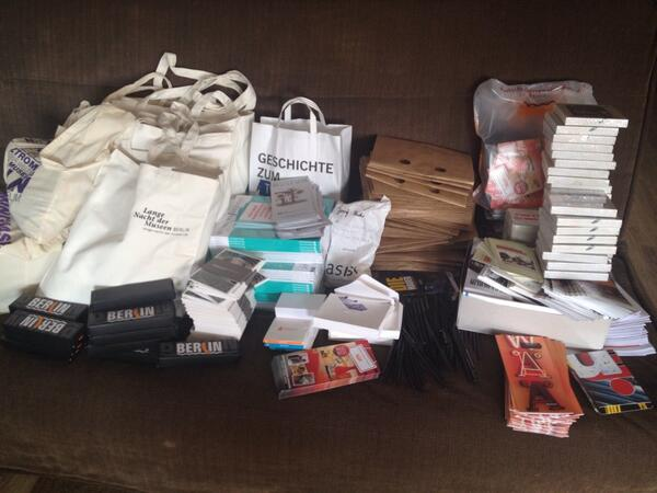 Our favourite way to spend a sunny afternoon - packing goodie bags for the #MuseumMarathon :) http://t.co/IeGf0CHoT7