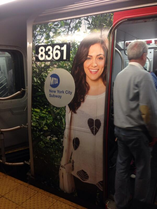Months ago we profiled @BethanyMota on @MyFoxNY and now she's wrapped around the L train. Congrats! http://t.co/LdYYGcb819