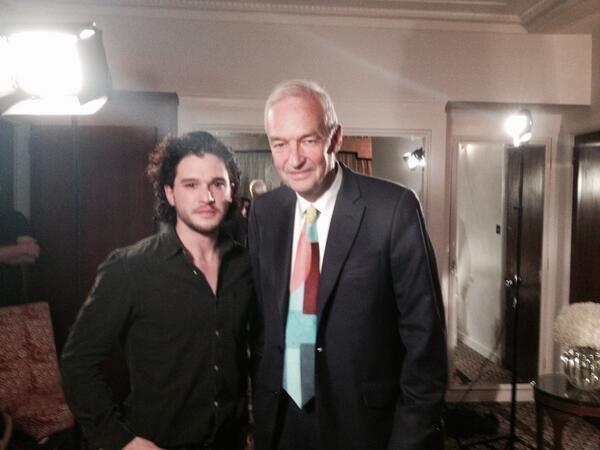 It had to happen: Jon Snow meets @jonsnowC4 http://t.co/ZhIBapFU0n