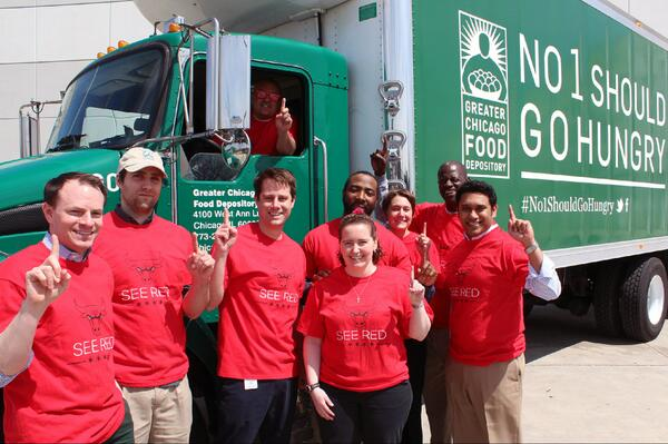 The Greater Chicago Food Depository will be cheering on @chicagobulls tonight in game 3! #SeeRed #No1ShouldGoHungry http://t.co/Mya1RJLkWQ