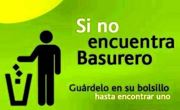 Un #ecotip básico: No tiren la basura en la calle.. (Vía @muneconda) http://t.co/3aQWrA7EH4