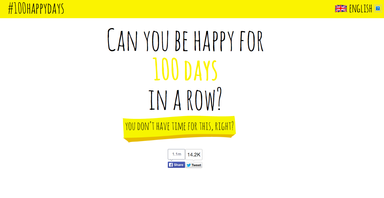 Twitter / chemobrainfog: Day 1: Can I be #happy 100 ...