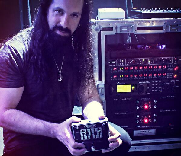 Blog post: http://t.co/9zyUbkIvVg @JPetrucci is using MESA's new 5-band Graphic EQ pedal in his Tri/2:90 touring rig! http://t.co/13pLHz7fQX
