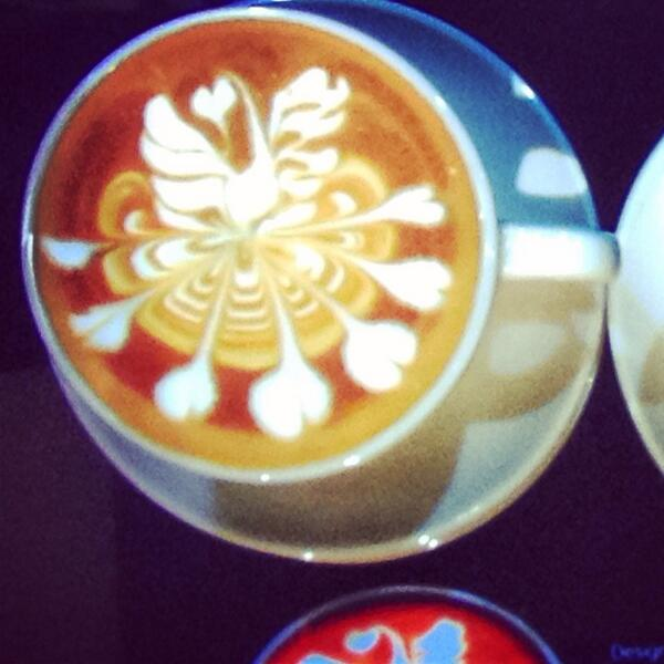 Latte art competition underway here at #SCAA2014! @SpecialtyCoffee http://t.co/2oPmjXluV9