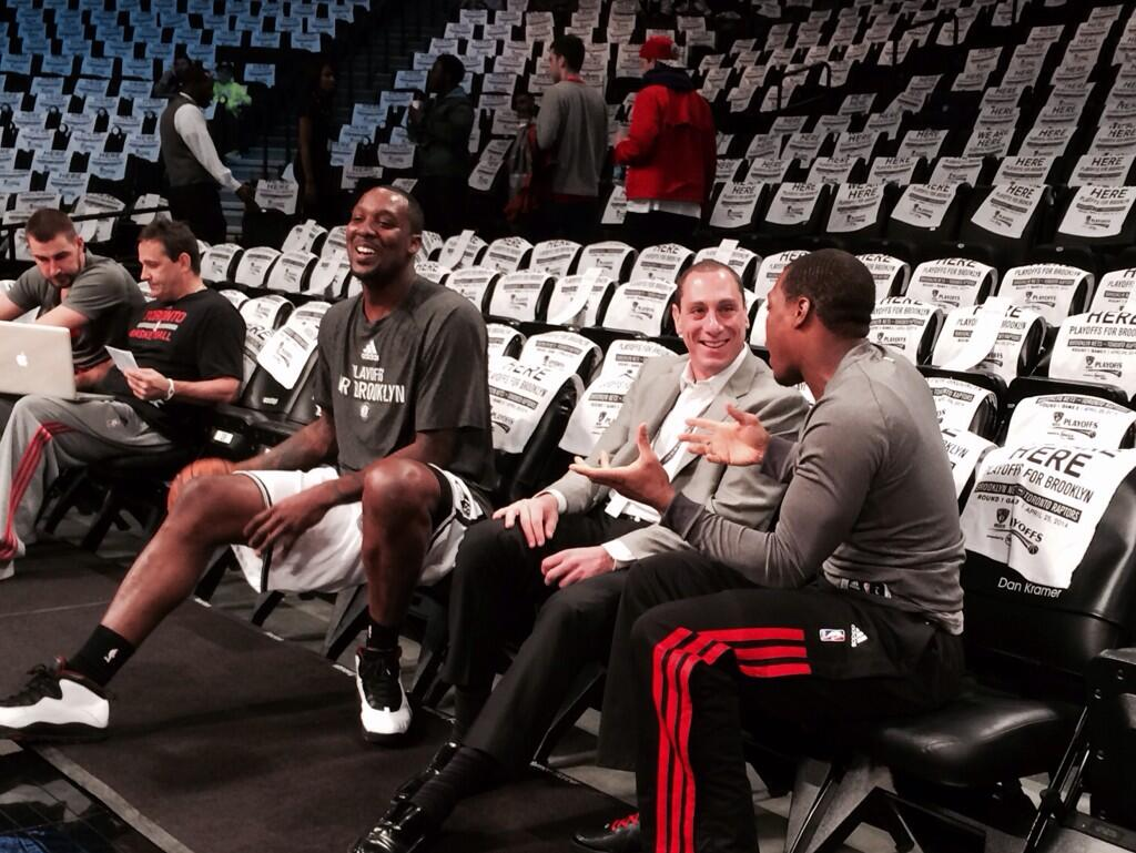 asm sports on agent andy miller chopping it up asm sports on agent andy miller chopping it up drayblatche and klow7 before game 3 teamasm familyfirst t co hynk3rxxwv