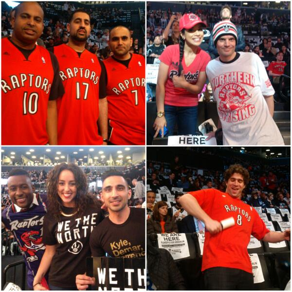 Loving the #Raptors fan support here in Brooklyn! #WeTheNorth #NorthernUprising #RTZ http://t.co/Au9mpbUTcZ