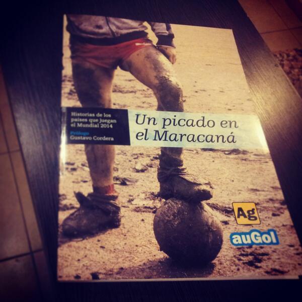 """Orgullo. Con ustedes """"Un picado en el Maracaná"""", el primer libro del equipo periodístico de http://t.co/jymQgRHLeK  http://t.co/lWlxbaeBn4"""