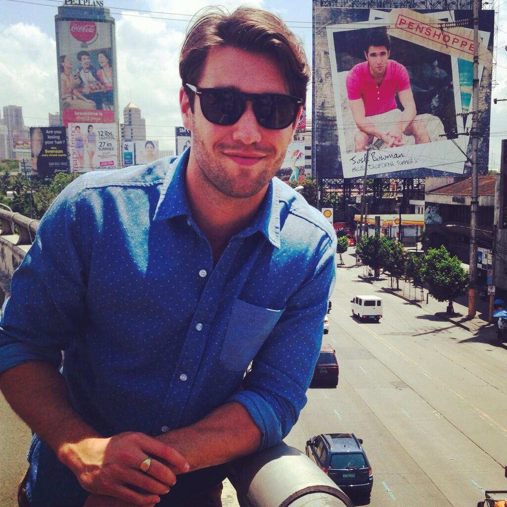 "PENSHOPPE on Twitter: ""Josh Bowman checking out his huge ..."