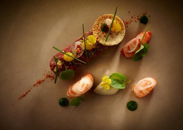 Muskox, humpback prawn, tonnato sauce... #food #gastronomia #gastronomy #foodgasm http://t.co/HUIMKTUtOv