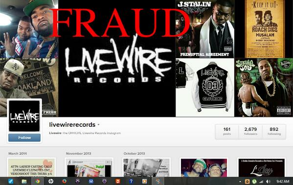 #Bootleggers #groupie #STALKERS  #fake ACCOUNTS ALL OVER #FACEBOOK #LiveWire #INSTAGRAM #FRAUD #LiveWireRecords http://t.co/bmG1axwUsf