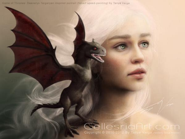 Lindíssima! Daenerys Targaryen - Game of Thrones - George R.R. Martin http://t.co/xtJoHrZL89