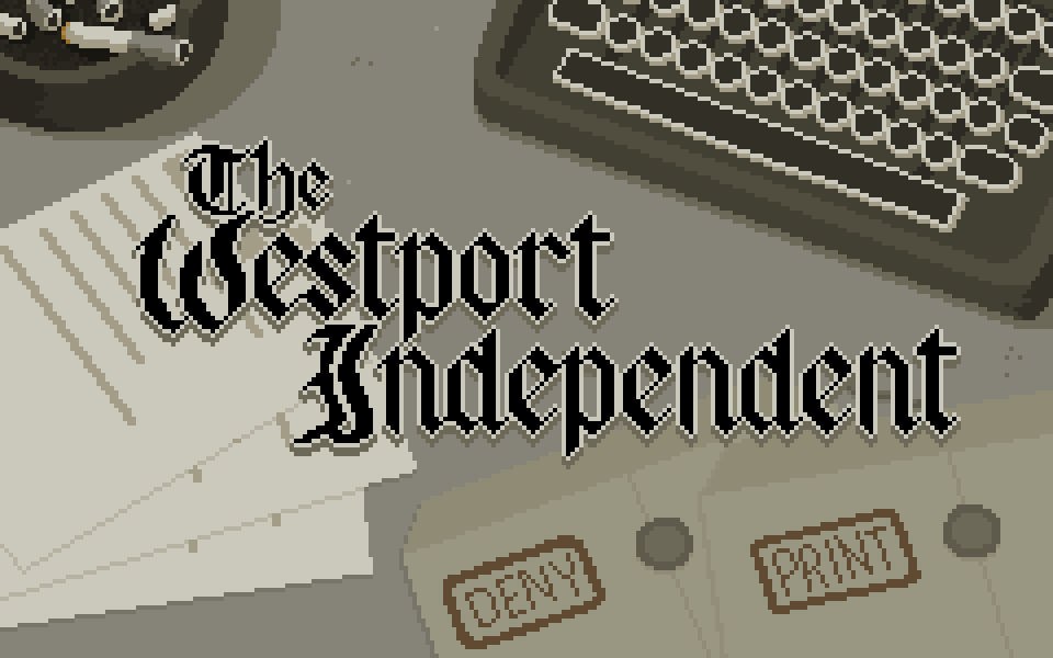 Screenshot of the old Ludum Dare 29 version of The Westport Independent