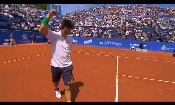 Kei Nishikori's impressive run continues in Barcelona as he beats Ernests Gulbis 62, 64 to reach the final http://t.co/AML6603n9S