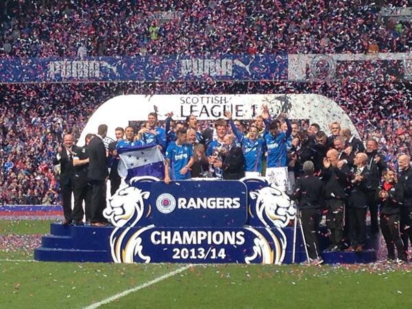 "Rangers Football Club on Twitter: ""#Rangers Football Club League One Champions 2013/14 http://t.co/UJYQWWAHjZ"""