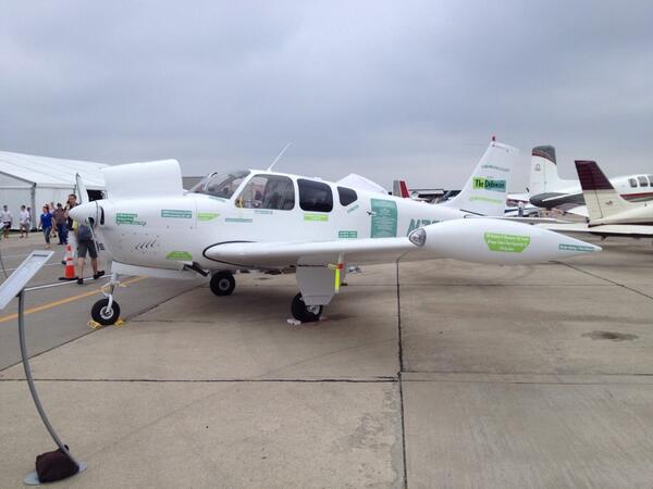 Hey BJ-  You'd better finish that pilots license before winning the #aopa Debonair.  #AOPAHYI  ^RN http://t.co/SEInUNi0Ri