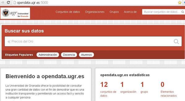 La plataforma de datos abiertos de la Universidad de Granada en servicio en junio, según @jtbenavente @OSLUGR  #jpd14 http://t.co/jLt6kHKQDA