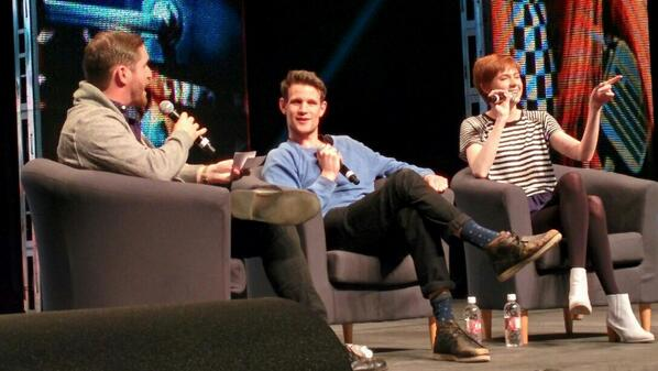 .@mattsmith_dw and @KarenGillan2 at the #CalgaryExpo! #DoctorWho #ShawDirect http://t.co/Skw3hP36Eh