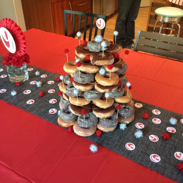 Miraculous Krispy Kreme On Twitter Great Looking Doughnut Cake Happy Bday Funny Birthday Cards Online Alyptdamsfinfo