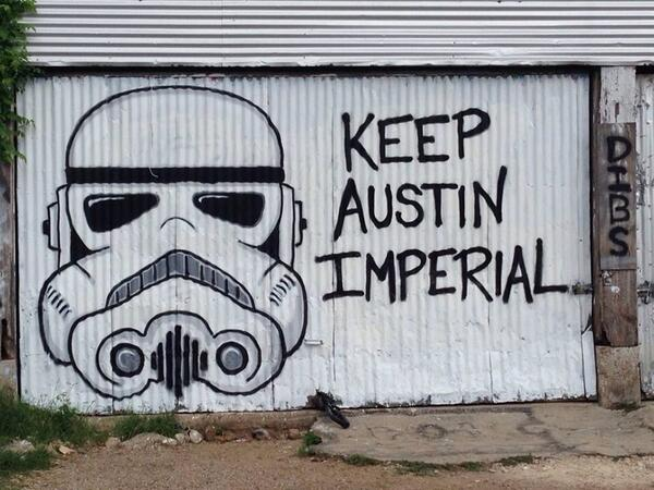 Keep Austin Imperial! #starwars #wallart #austin http://t.co/9Vn4rdTvuG