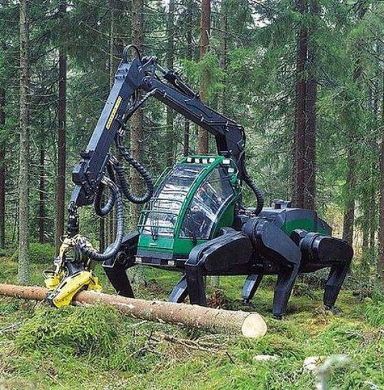 【ロボットネタ】森林作業用の6足作業機のプロトタイプ樹がとてもクール!伐採した木の枝をその場で綺麗に落として木材に加工する専用重機。その独特の動きのYouTube動画でチェック!youtube.com/watch?v=ftV2He… pic.twitter.com/g5sQ5d6cPv