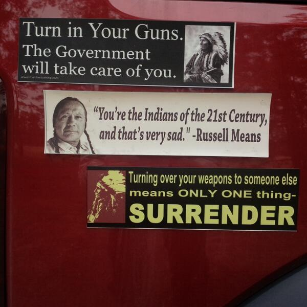 We are the Indians of the 21st Century, a new trail of tears if we are disarmed, it is NOT about safety, but control! http://t.co/J0iP0aspxo