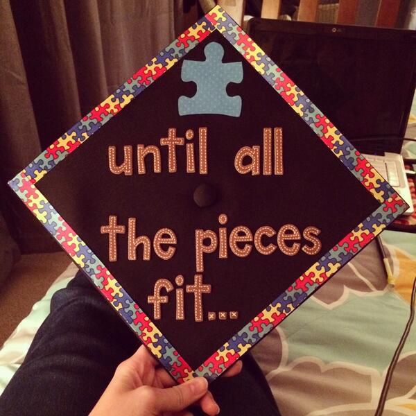 Our first decorated cap of the season! #UTgrad2014 MT @laceynrussell Ready to graduate! @autismspeaks @autismspeakstn http://t.co/ChUquWRFtL