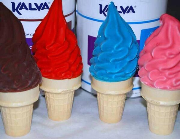 Dips ice cream