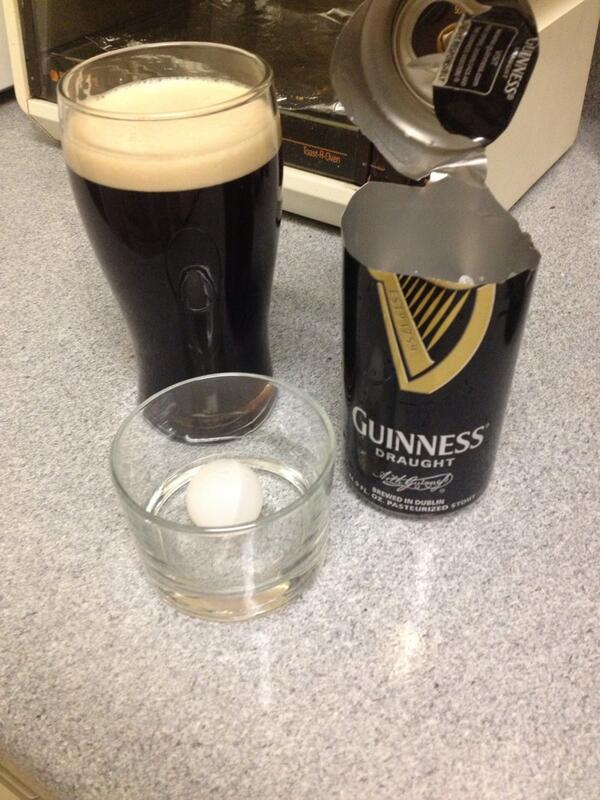 sam hall on twitter found a plastic ball in my can of guinness