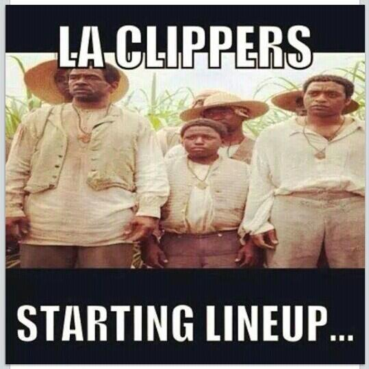 12yearsaslave @nba @laclippers owner @donaldsterling DON'T BRING BLACK PEOPLE TO MY GAMES.....Including Magic Johnson http://t.co/gbqPoH1Cno