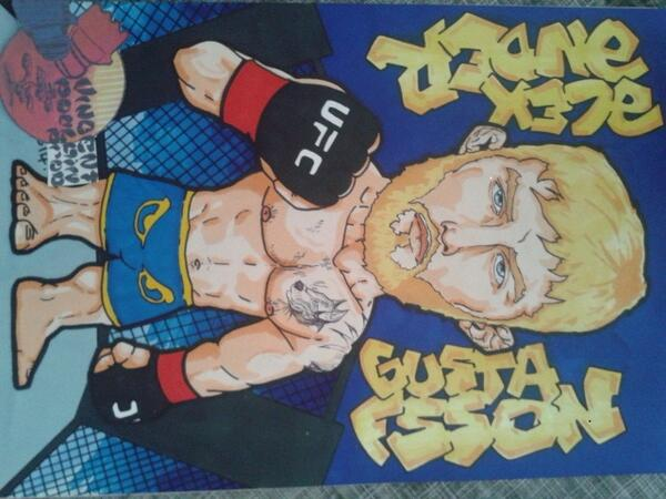 My drawing for @ufc  @AlexTheMauler @BadBoyEurope by a French artist @Vincenthury
