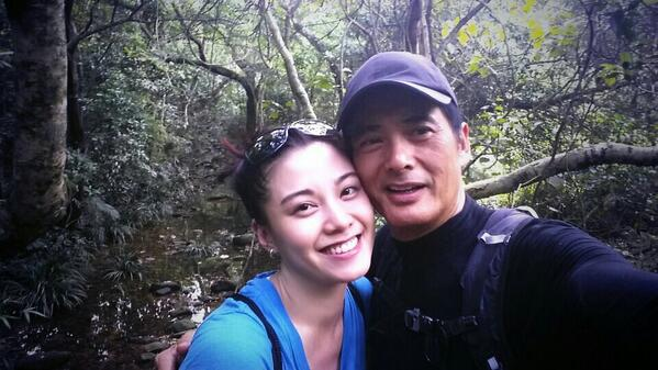 #hiking for the 1st time & did 15km! Had a great team, incl Mr.Chow Yun-fat! Thx #Ecco shoes I managed not to slip! http://t.co/86txQywenU
