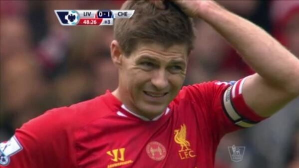Pic: Steven Gerrard's face says it all