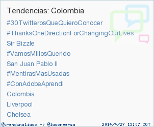 #ConAdobeAprendi acaba de convertirse en TT ocupando la 7ª posición en Colombia. Más en http://t.co/XettduK3x2 http://t.co/2FmRRRAbGu