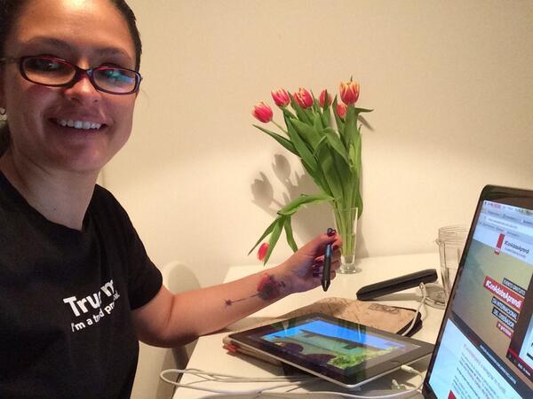 #ConAdobeAprendi a trabajar siempre feliz ;) ¡Quiero una Suscripción #video2brain! http://t.co/Hl5izimFDp