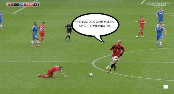 Steven Gerrard slips Memes & Jokes flood the internet after Liverpool 0   Chelsea 2
